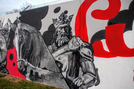 Fragment historycznego muralu, fot. Dominika Sykus, Maciej Aronowicz - Primacol