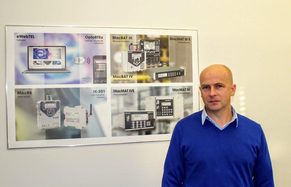 Mariusz Sawicki, Dyrektor ds. Gazownictwa w firmie Plum, fot. Lidia Dobrowolska