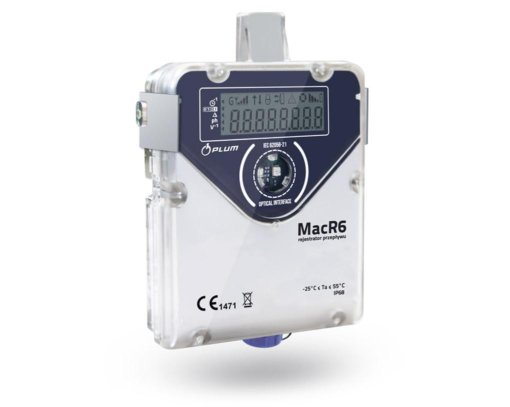 MacR6 PC rejestrator przepływu oraz ciśnienia z wbudowanym modułem telemetrycznym, fot. Plum